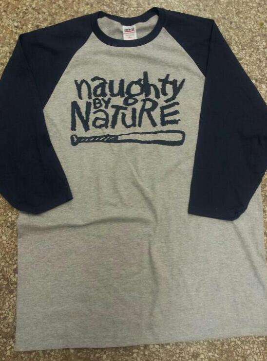 Navy/Gray Baseball Tee